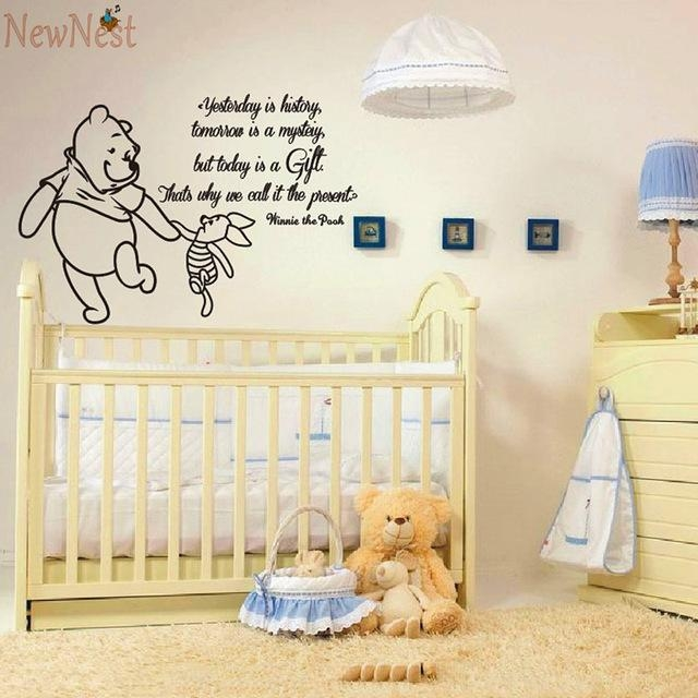 Aliexpress : Buy Winnie The Pooh Wall Decals Piglet Quotes Within Winnie The Pooh Wall Art For Nursery (Image 4 of 20)