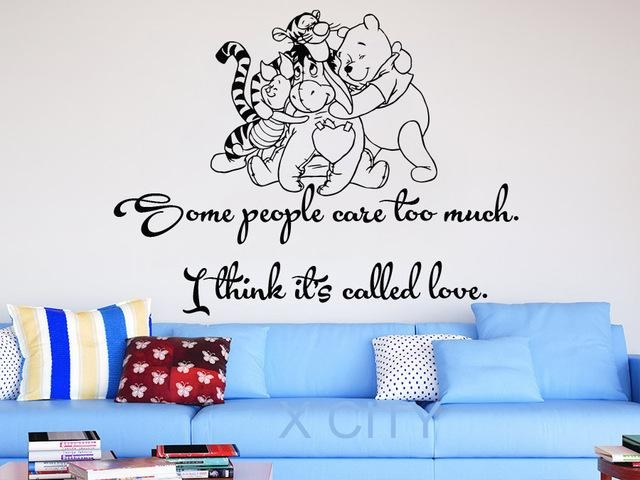 Aliexpress : Buy Winnie The Pooh Wall Decals Quotes Vinyl In Winnie The Pooh Wall Art For Nursery (Image 5 of 20)