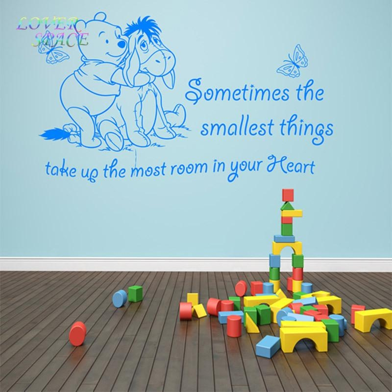 Aliexpress : Buy Winnie The Pooh Wall Stickers Dog Butterfly With Regard To Winnie The Pooh Vinyl Wall Art (Image 4 of 20)