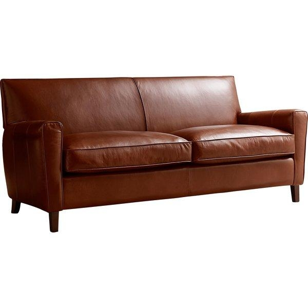Allmodern Custom Upholstery Foster Leather Sofa & Reviews | Wayfair Throughout Foster Leather Sofas (View 8 of 20)