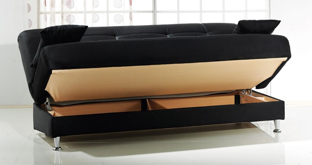Alluring Sofa Sleeper With Storage Multifunctional Microsuede Within Microsuede Sofa Beds (Image 2 of 20)