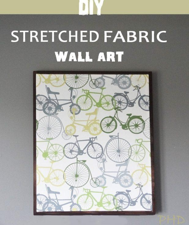 Amazing Diy Fabric Covered Wall Art Find This Pin And Stretched For Stretched Fabric Wall Art (Image 1 of 20)