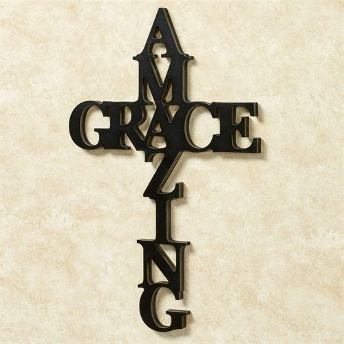 Amazing Grace Word Cross Wall Art In Grace Wall Art (View 9 of 20)