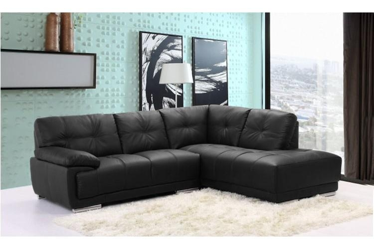 Amazing Leather Corner Sofa Black Leather Corner Sofa – Interiorvues In Black Corner Sofas (View 6 of 20)