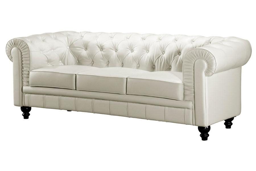 Amazing Of White Leather Tufted Sofa 12 Gorgeous Tufted Leather With Regard To Silver Tufted Sofas (View 13 of 20)