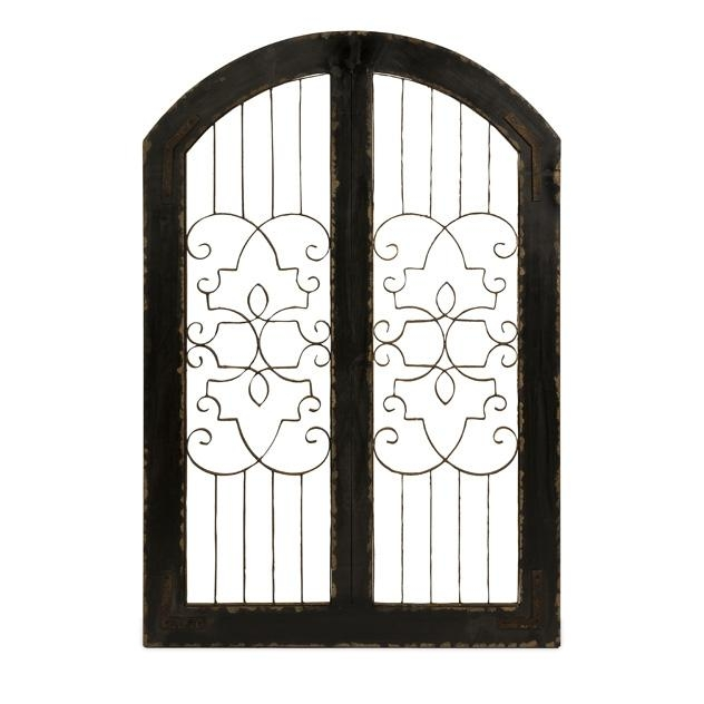 Amelia Iron And Wood Gate | Wall Art | Rococo Home Decor For Iron Gate Wall Art (Image 10 of 20)