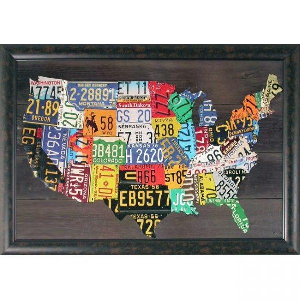 Ideas of united states map wall art
