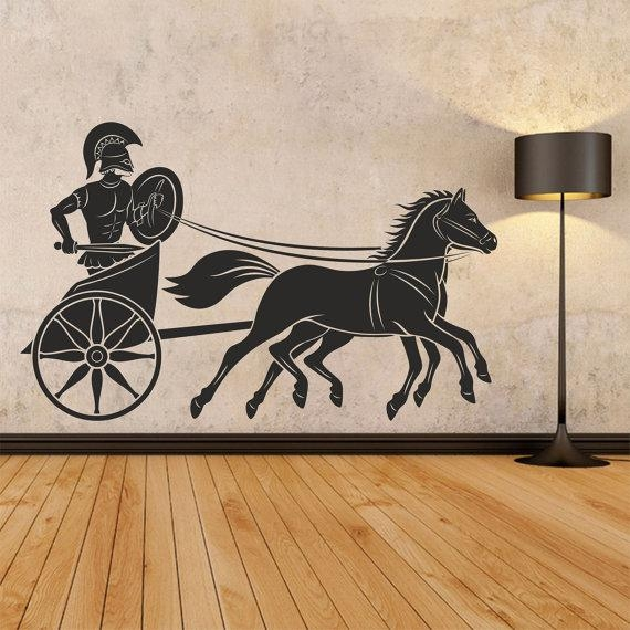 Ancient Greece Wall Decal Greek Art Wall Decal Greek Warrior With Regard To Greek Wall Art (Image 6 of 20)