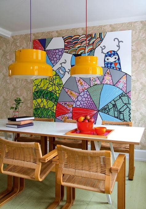 And Colorful Dining Room Wall Art Ideas Pertaining To Vibrant Wall Art (View 3 of 20)