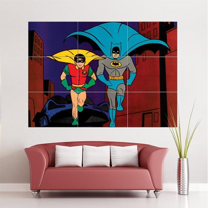 And Robin Classic Retro Block Giant Wall Art Poster With Regard To Large Retro Wall Art (View 14 of 20)