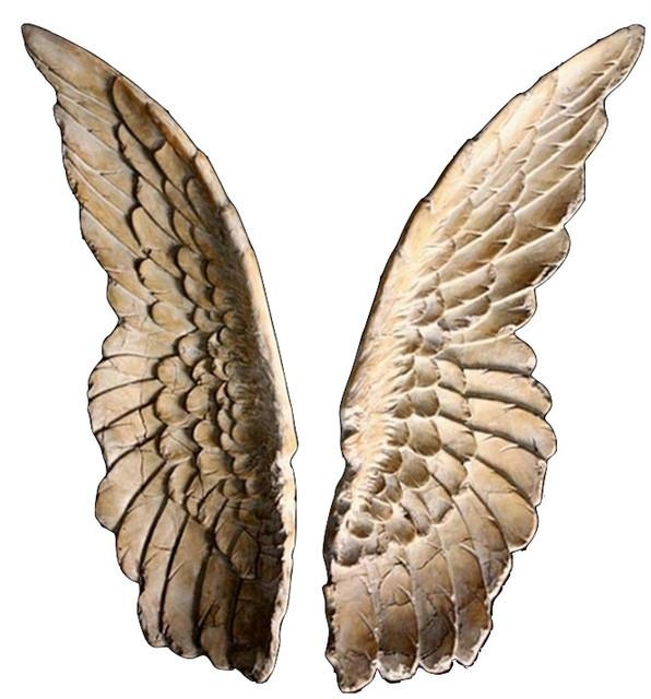 Angel Wings Wall Sculpture – Set Of 2 – Contemporary – Decorative Intended For Angel Wings Wall Art (Image 6 of 20)