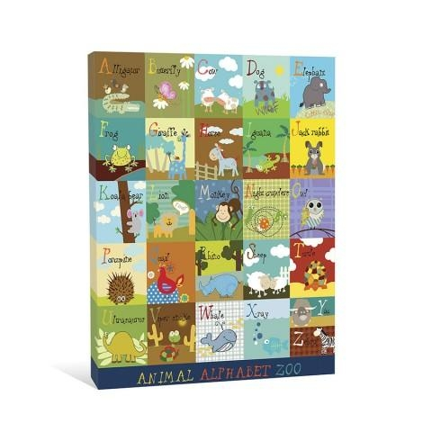 Animal Alphabet Zoo Canvas Wall Art | Create Art And Gifts With Animal Canvas Wall Art (Image 15 of 20)