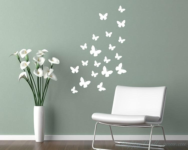 Animal Wall Art Stickers For Butterflies Wall Art Stickers (Image 6 of 20)