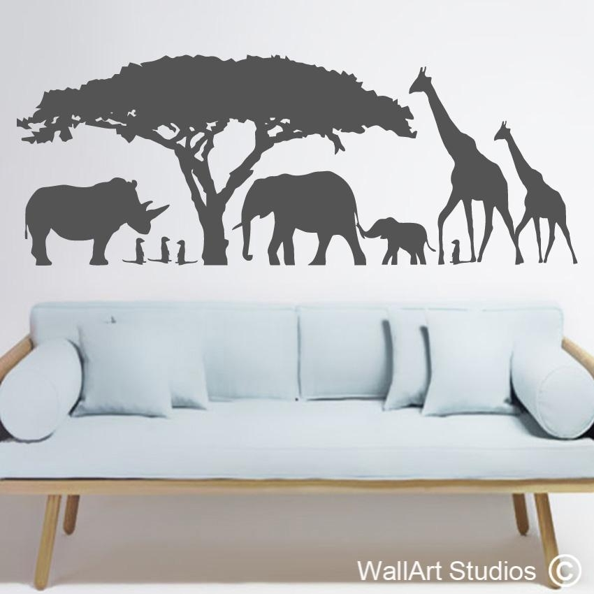 Animals Wall Art Stickers South Africa | Wallart Studios Intended For Animal Wall Art (Image 10 of 20)