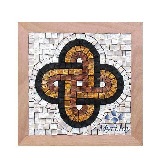 "Anniversary Diy Gift Mosaic Kit Solomon's Knot 9""x9"" Mosaic Wall Regarding Mosaic Art Kits For Adults (Image 4 of 20)"