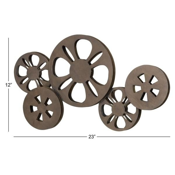 Antique Bronze Movie Reel Metal Wall Art – Free Shipping On Orders Pertaining To Film Reel Wall Art (Image 9 of 20)