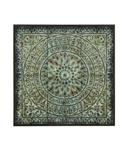 Antique Look Vintage Style Moroccan Design Metal Wall Art Boho Intended For Moroccan Metal Wall Art (Image 5 of 20)