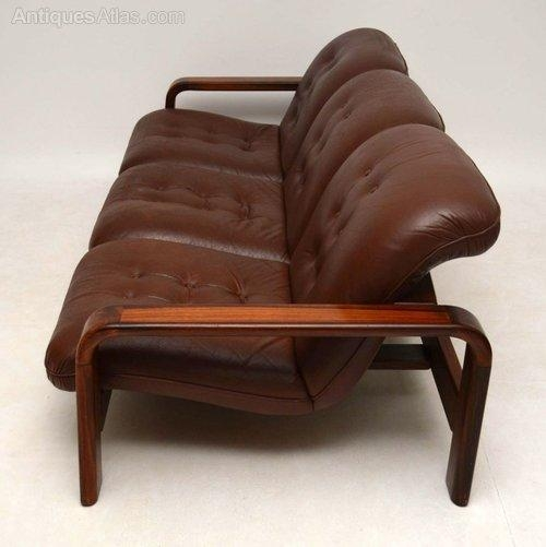 Antiques Atlas – Danish Retro Rosewood & Leather Sofa Vintage Pertaining To Danish Leather Sofas (Image 2 of 20)