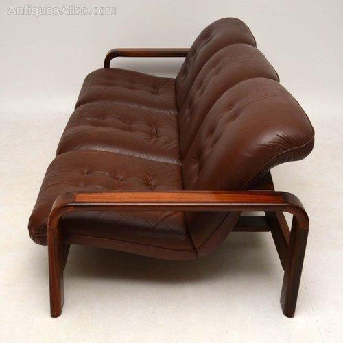 Antiques Atlas – Danish Retro Rosewood & Leather Sofa Vintage Pertaining To Danish Leather Sofas (Photo 15 of 20)