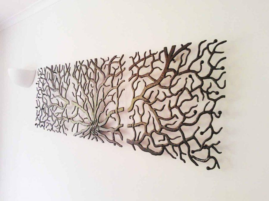 Appealing Metal Tree Wall Art Sculpture Uk Metal Tree Wall Art Pertaining To Tree Wall Art Sculpture (View 15 of 20)