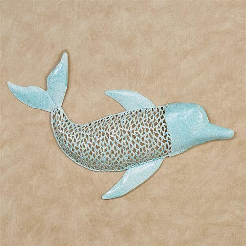 Aqua Dolphin Metal Wall Art For Dolphin Metal Wall Art (Image 6 of 20)