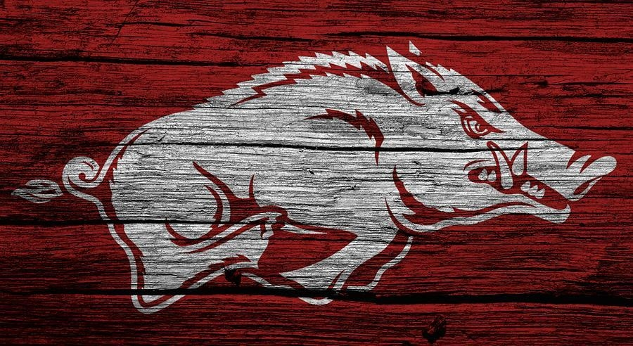 Arkansas Razorbacks On Wood Digital Artdan Sproul Regarding Razorback Wall Art (Image 15 of 20)