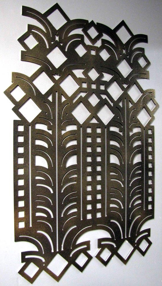 Art Deco Accessories; A Simple Way To Use The Historic Style In Art Deco Metal Wall Art (Image 8 of 20)