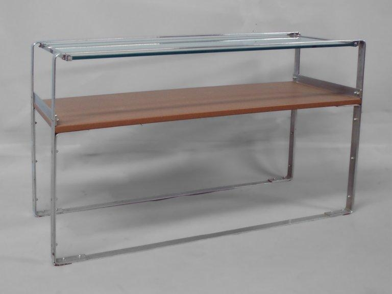 Art Deco Machine Age Chrome Sofa Table Console For Sale At 1Stdibs Regarding Chrome Sofa Tables (Image 2 of 20)