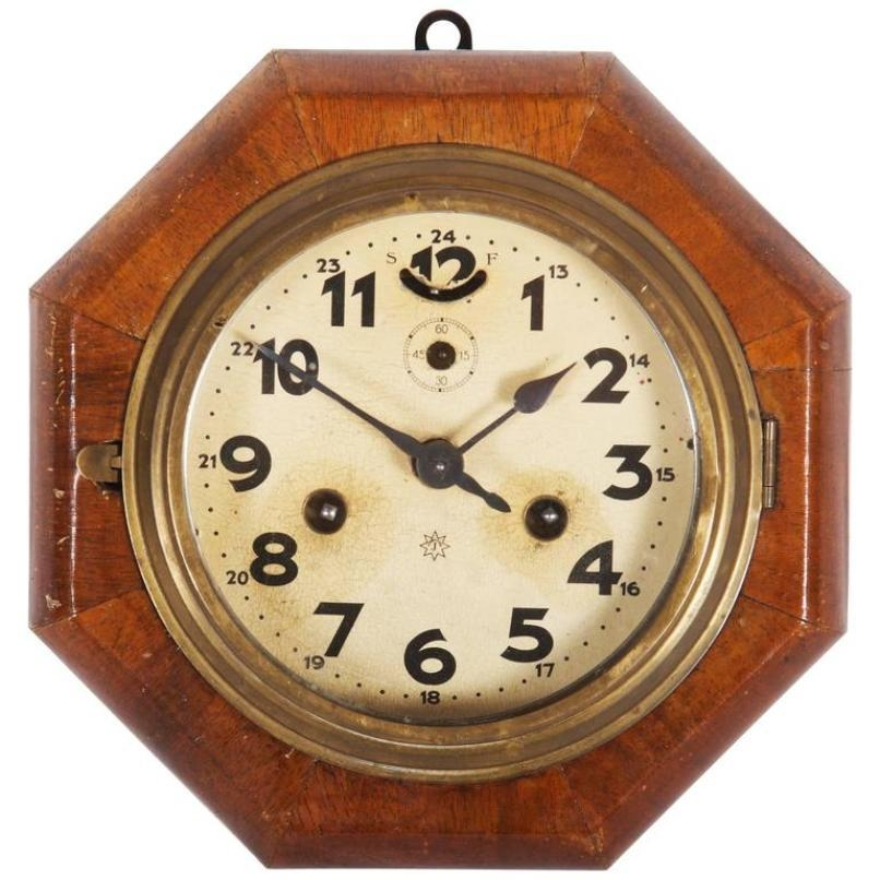 Art Deco Wall Clock From Junghans For Sale At Pamono Regarding Art Deco Wall Clocks (Image 8 of 20)