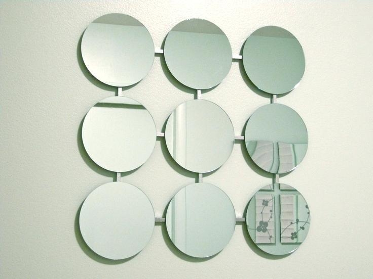 Art Mirrors For Walls. Luna Round Mirror Panel (View 17 of 20)
