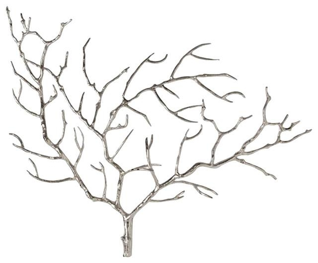 Arteriors Edwin Tree Wall Sculpture – Contemporary – Metal Wall Intended For Metal Tree Wall Art Sculpture (Image 6 of 20)