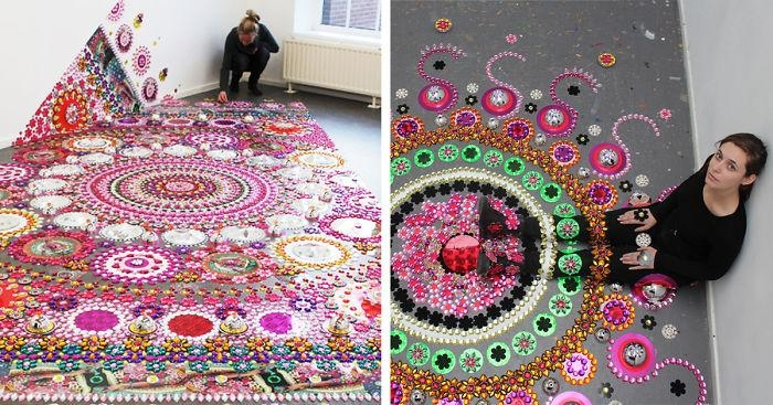 Artist Puts 1000S Of Glittering Gems On Floors, Walls, And People In Kaleidoscope Wall Art (View 11 of 20)