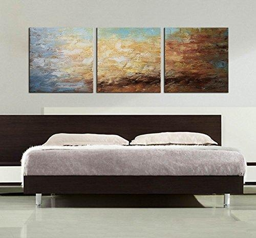 Artland Modern 100% Hand Painted Framed Abstract Oil Painting Pertaining To 3 Piece Abstract Wall Art (View 17 of 20)