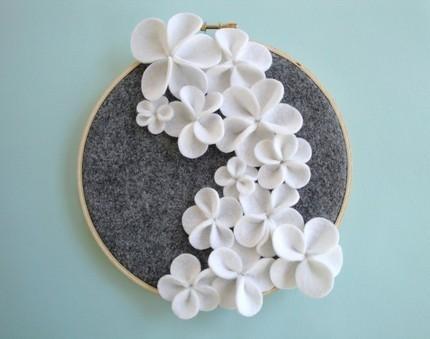 Art/wall Decor – White Ceramic Flower Art With Ceramic Flower Wall Art (Image 6 of 20)