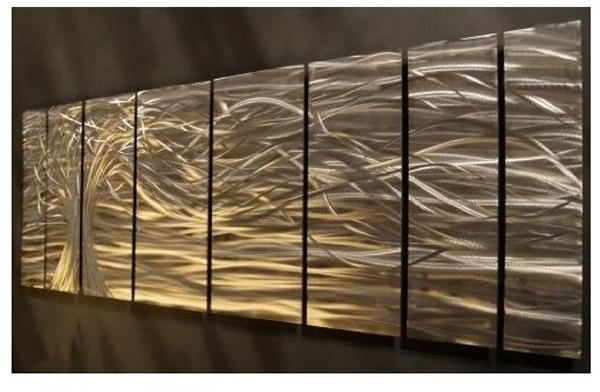 Artwork : Contemporary Metal Wall Art (Image 9 of 20)