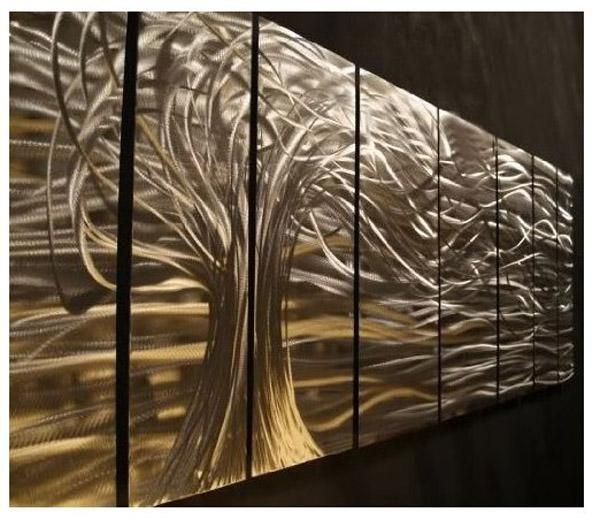 Artwork : Contemporary Metal Wall Art (Image 4 of 20)