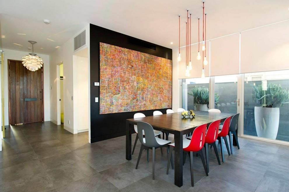 Artwork For Dining Room With Contemporary Wood Front Door – Dining With Regard To Oversized Wall Art Contemporary (View 2 of 20)