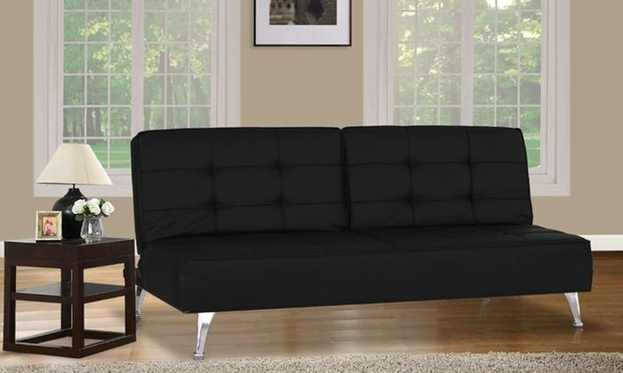 Aryton Euro Sofa Bed And Lounger | Groupon Goods For Euro Sofa Beds (Image 4 of 20)