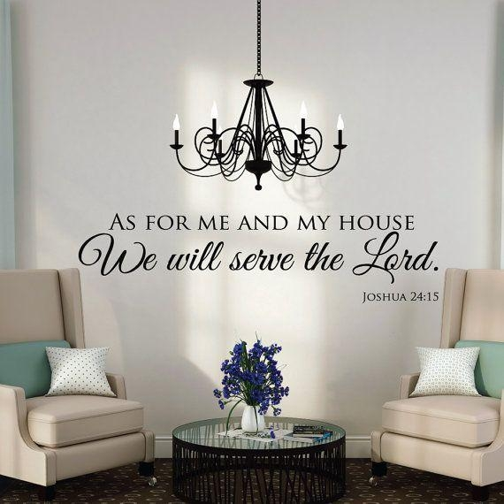 As For Me And My House Wall Decals Quotes Christianluxeloft Pertaining To Large Christian Wall Art (Image 2 of 20)