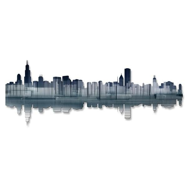 Ash Carl 'chicago Reflection' Metal Wall Art – Free Shipping Today In Ash Carl Metal Wall Art (Image 8 of 20)