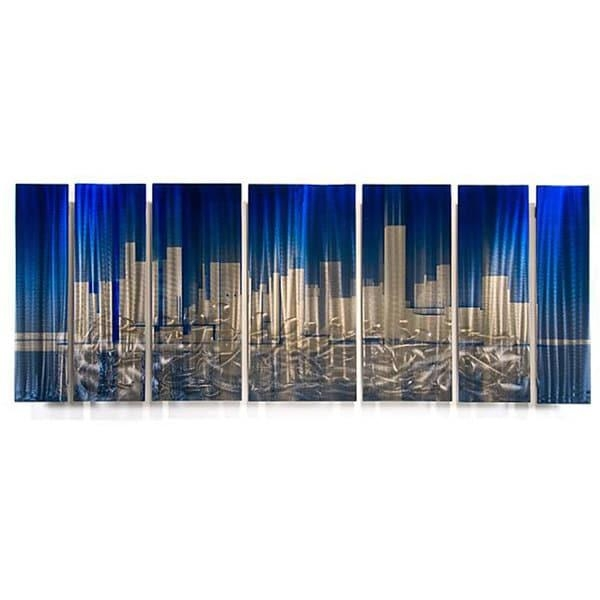 Ash Carl 'cityscape' Metal Wall Art – Free Shipping Today Regarding Ash Carl Metal Wall Art (Image 9 of 20)