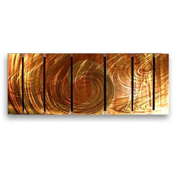 Ash Carl 'initiation' 7 Panel Metal Wall Art – Free Shipping Today Regarding Ash Carl Metal Wall Art (Image 12 of 20)
