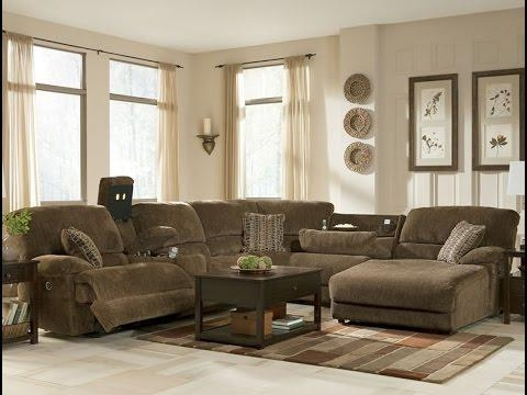 Ashley Furniture Sectional Couch – Youtube Regarding Ashley Furniture Leather Sectional Sofas (Image 3 of 20)