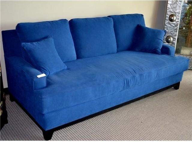 Attractive Blue Sleeper Sofa Best Images About Blue Sofa On Regarding Blue Sofas (Image 4 of 20)