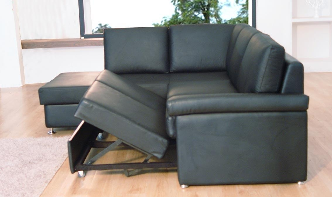 Attractive Leather Sectional Sofa Sleeper Leather Sofa Bed With Regarding Faux Leather Sleeper Sofas (View 10 of 20)