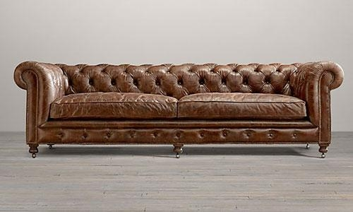 Attractive Tufted Brown Leather Sofa Vanessa And Valentine August Within Brown Tufted Sofas (View 4 of 20)