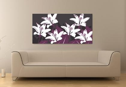 Aubergine Canvas Art Print. Floral Wall Art (Image 10 of 20)