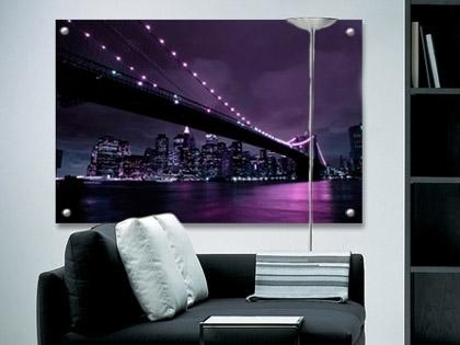 Aubergine New York Perspex Art. Glass Look Artwork (View 4 of 20)
