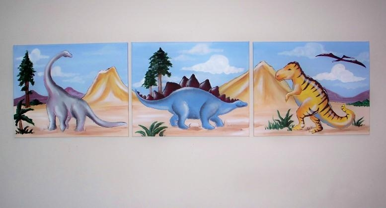 Austin Artworks For Dinosaur Canvas Wall Art (Image 8 of 20)