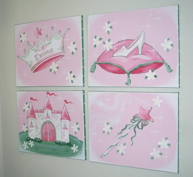 Austinartworks – Castles & Princess Wall Art For Girls' Rooms Intended For Princess Canvas Wall Art (Image 3 of 20)